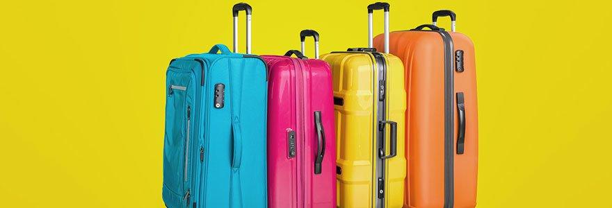 Achat de bagages pour voyage trouver un format familial